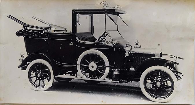 Vintage Photo King George's Car Delhi Durbar