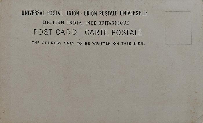 Vintage Advertisement Postcard The Tatschali Line In Bombay