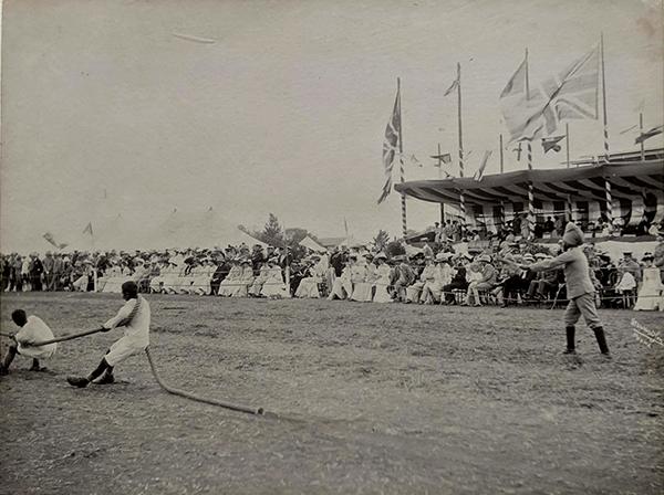 Antique Photo British India Military Games Poona 1900