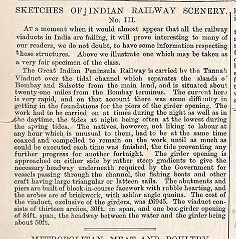 Antique Print Tannah Viaduct GIPR