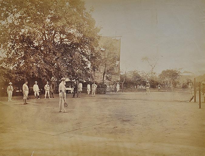 Old Photo – Game Of Tennis British India 1885