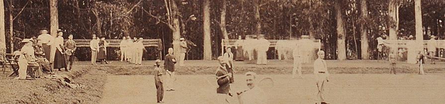 Tennis In Coonoor Nilgiri Hills Ooty 1894- Old Photo