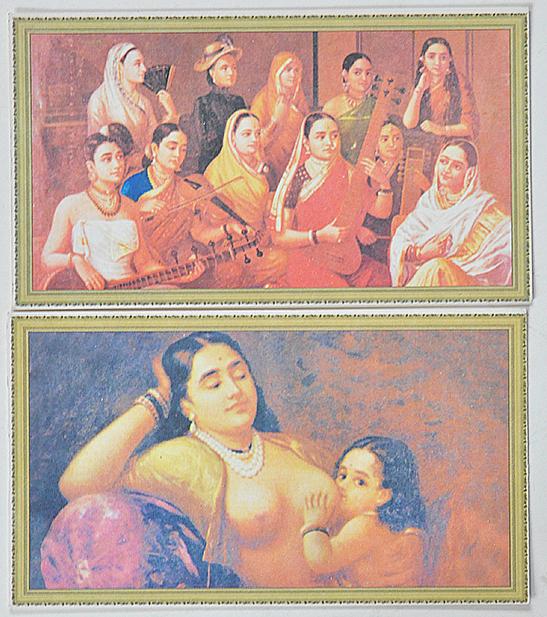 Raja Varma Oil Paintings In 11 Picture Postcards 1960