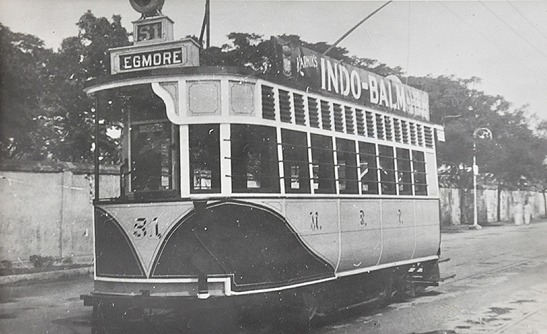 Electric Trams of Madras / Chennai – 2 Old Photos 1935