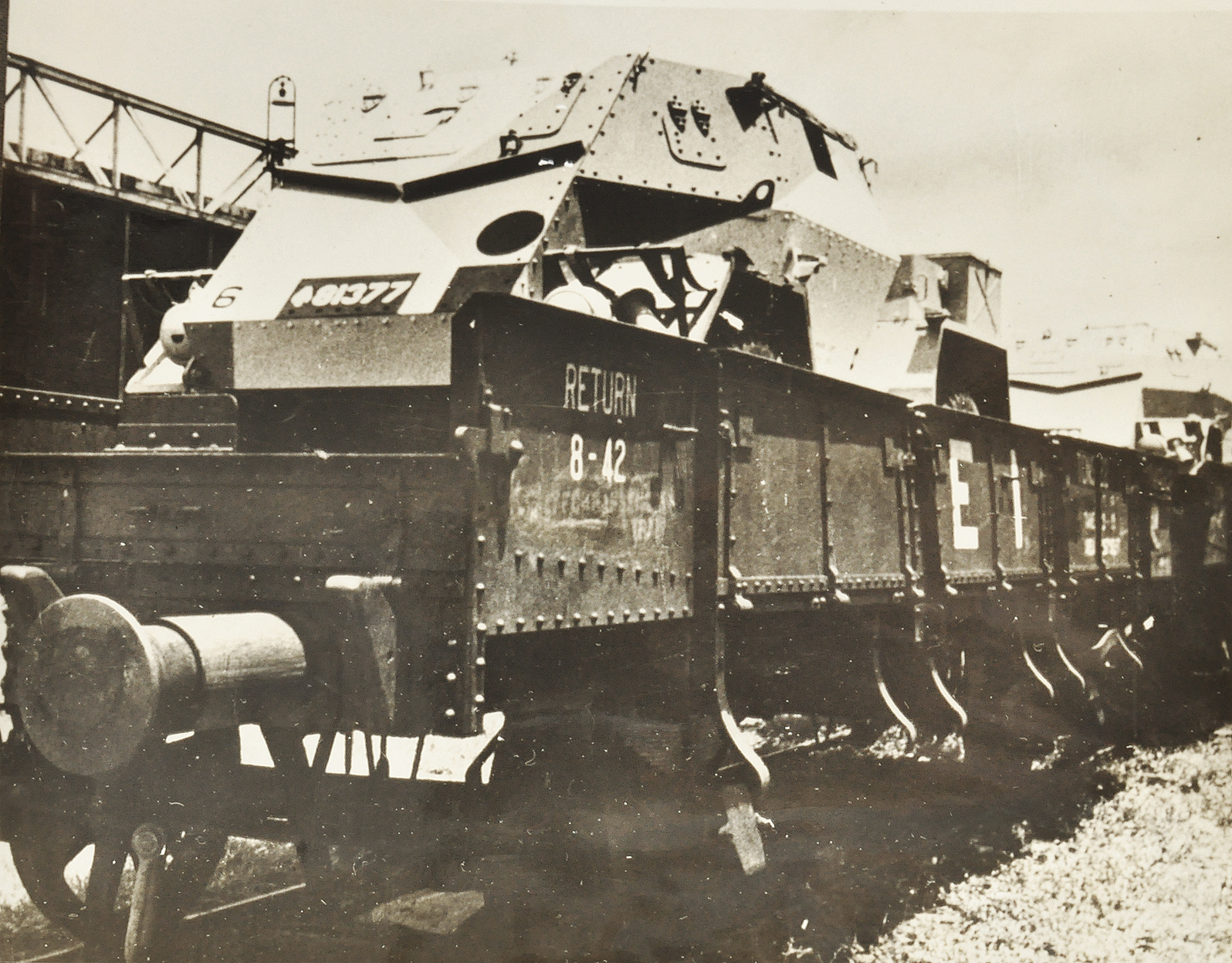 India Made Armoured Vehicle In WW2-Old Photo 1942