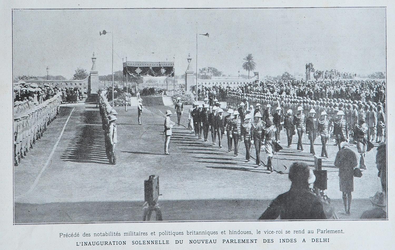 Inauguration of Parliament New Delhi - Old Print 1927