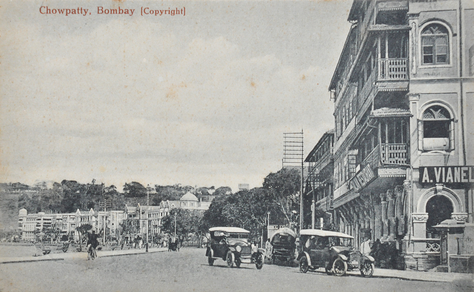 Early Vintage Cars In Bombay - 3 Old Postcards