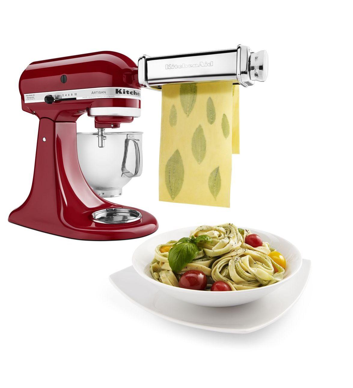 kitchen aid pasta attachment 60 inch table kitchenaid attachments - maker hq