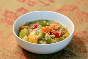Summer Minestrone prepared in bowl