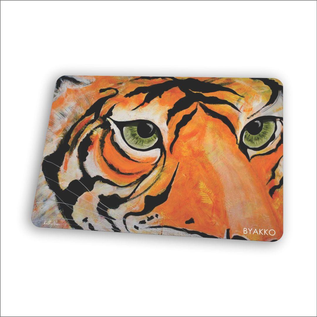 BYAKKO : Painted Tiger by Kathy Vasic - Mouse Mat