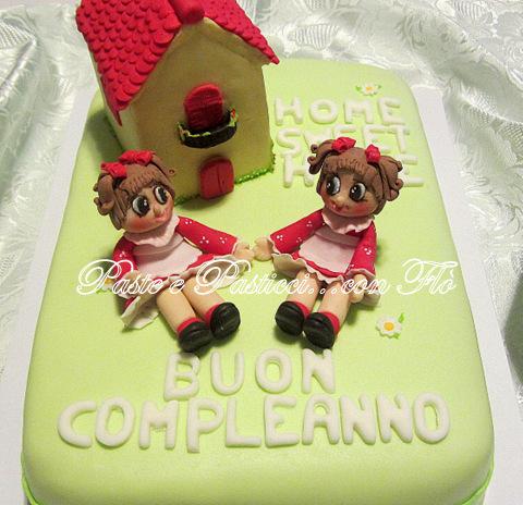 torta bamboline gemelle