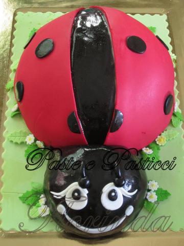 torte decorate coccinella 001