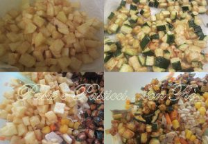 tabule con pollo arrosto e verdure croccanti