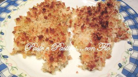 Filetti di orata in crosta di pane croccante