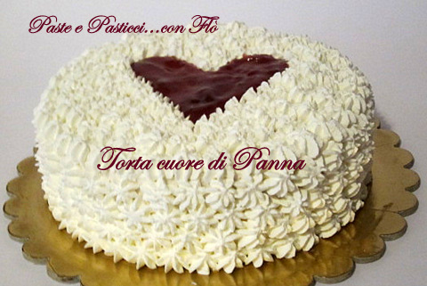 torta cuore di panna