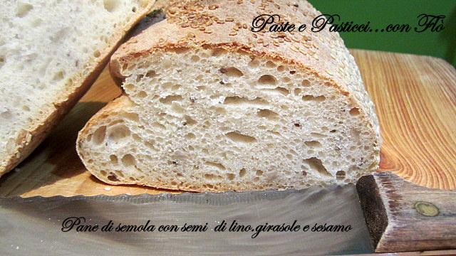 pane misto semola con semi di lino,girasole e sesamo2