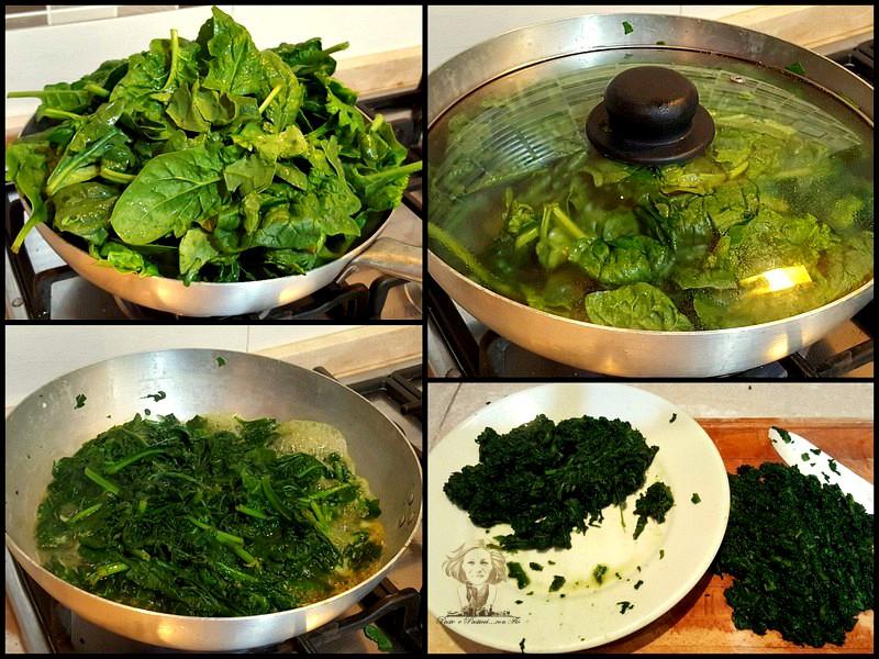 lavare gli spinaci e cuocerli in padella