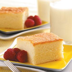 Pastel de leche caliente fotografía