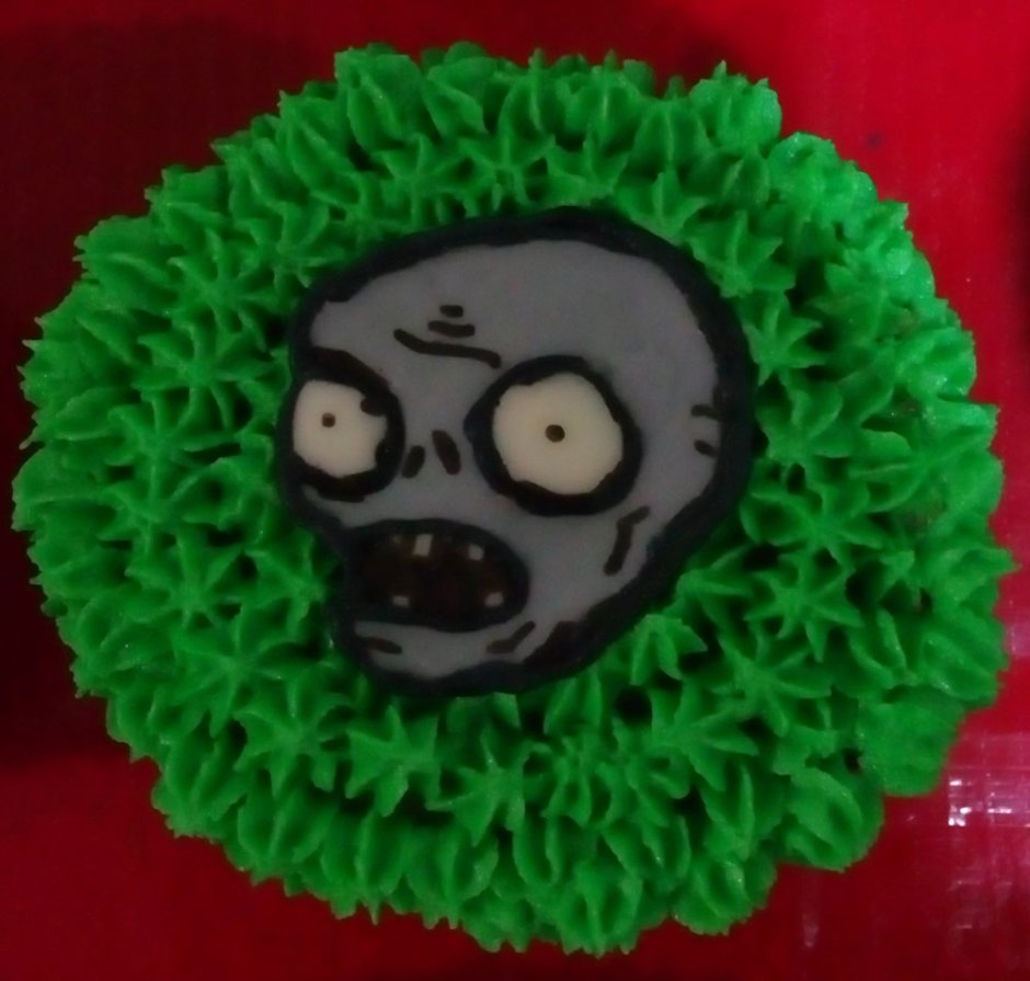 cupcake de zombie