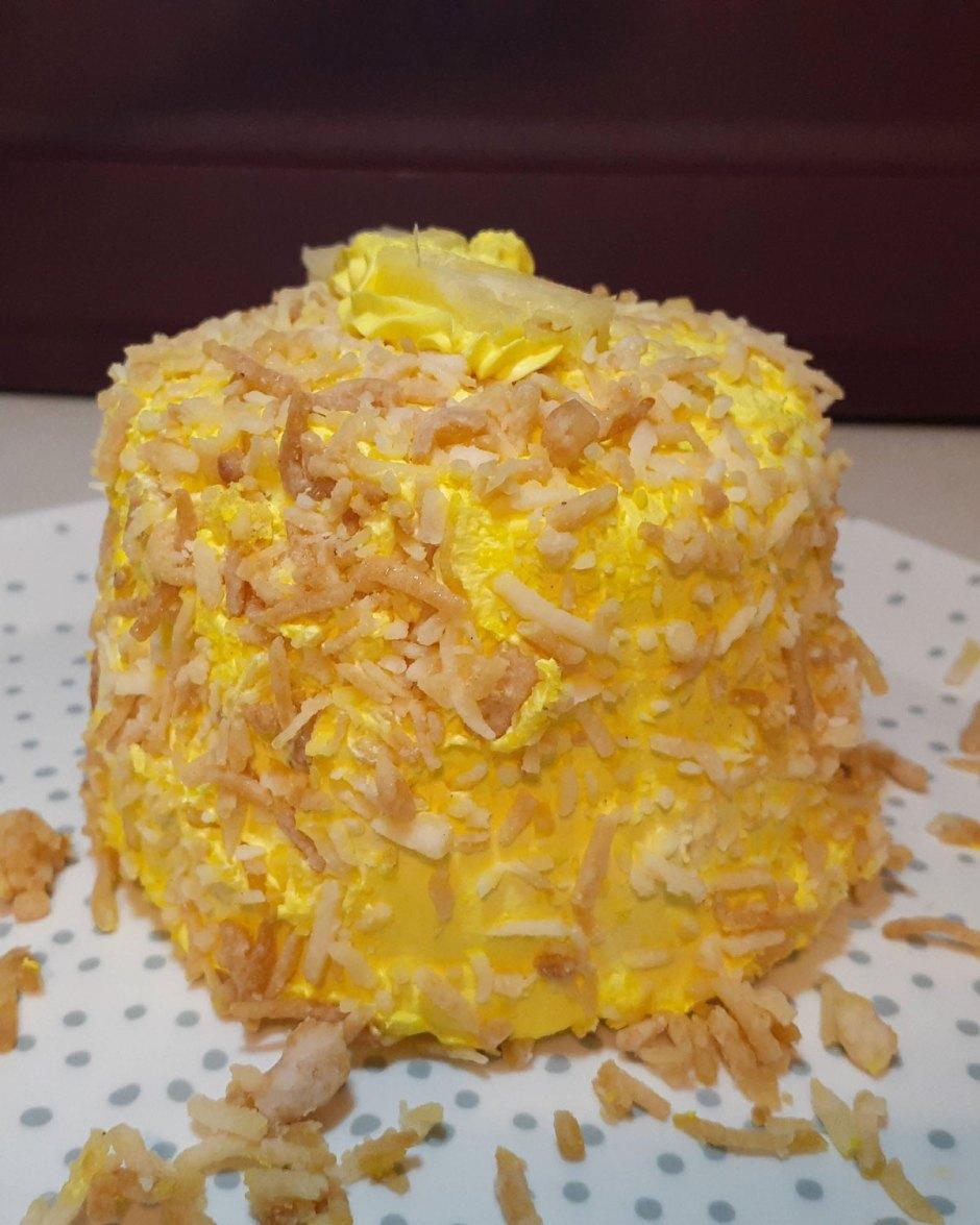 mini pastel de piña colada