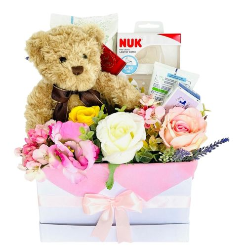 baby girl gift box_M8_brown teddy1
