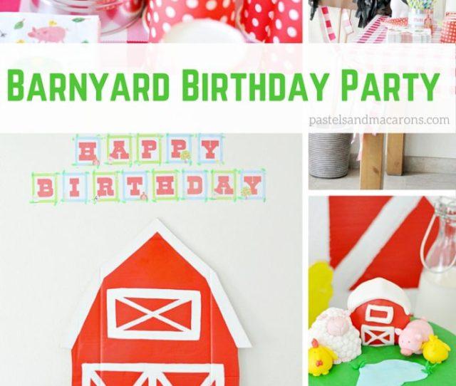 Barnyard Birthday Party By Pastels Macarons Birthdayparty Kidsbirthdaypaties Kids Toddler