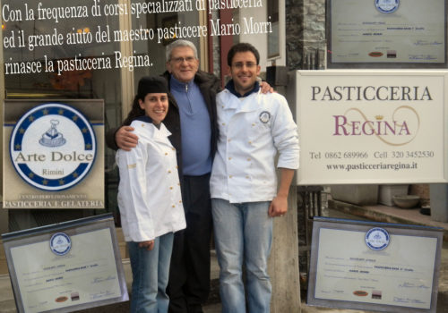 Gennaio 2010: Mario Morri con Piero ed Enrica Bontempo