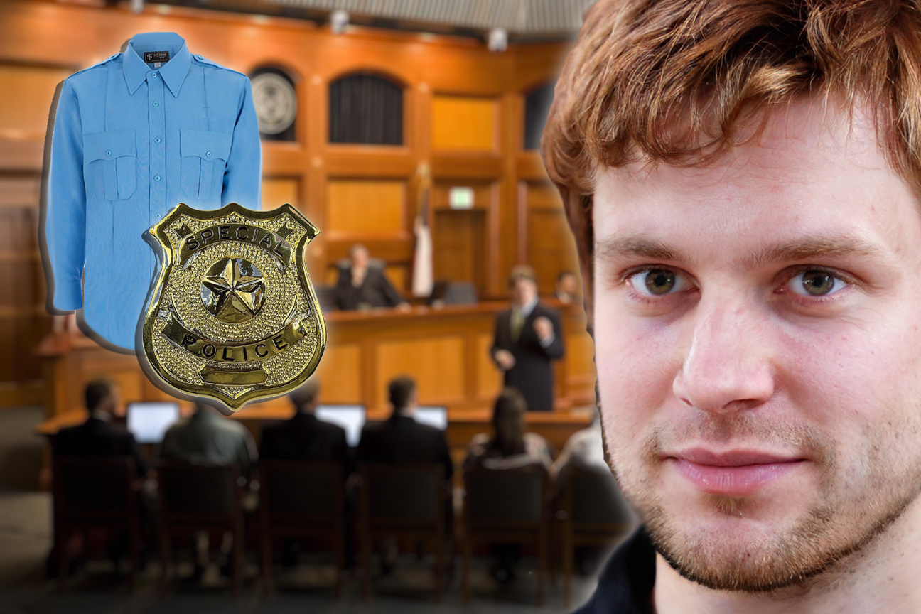 Convicted Killer Set Free After Showing Up To Sentencing in a Blue Shirt and Badge