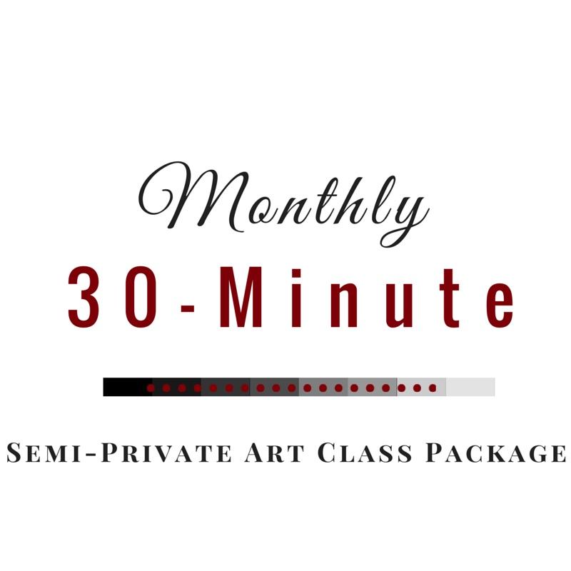 Monthly 30-Minute Semi-Private Art Class Package