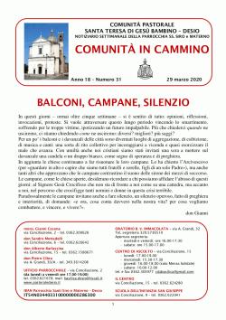 Comunità in cammino - 29 marzo 2020