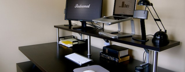 How to Build a Do It Yourself, Ikea-Hacked, Stand Up Desk