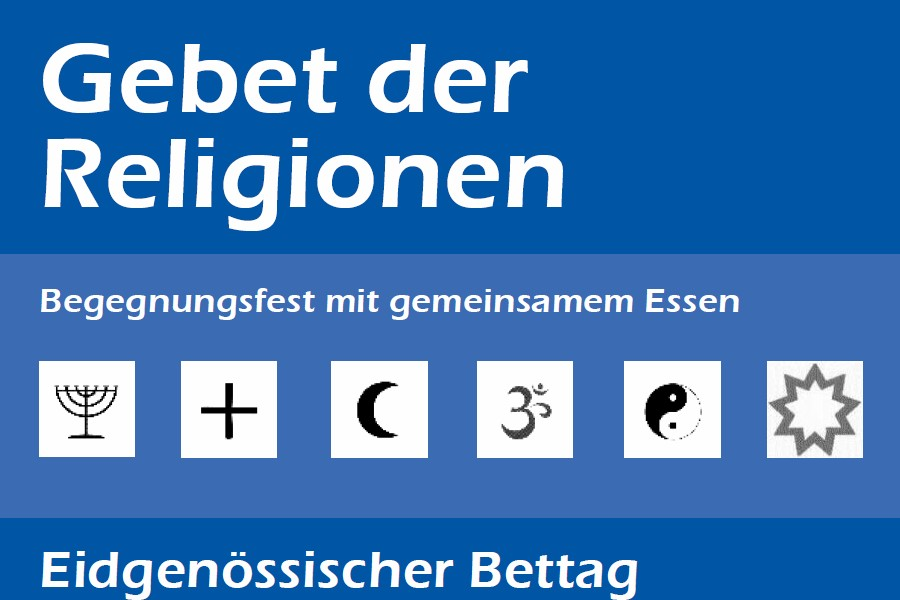Gebet der Religionen  Pfarreien BadenEnnetbaden