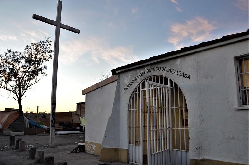 Cañada Real. Madrid. Igñesia Santpo Domingo de la Calzada.