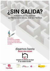 Cáritas. Campaña Personas Sin hogar 2021. ¿Sin Salida?