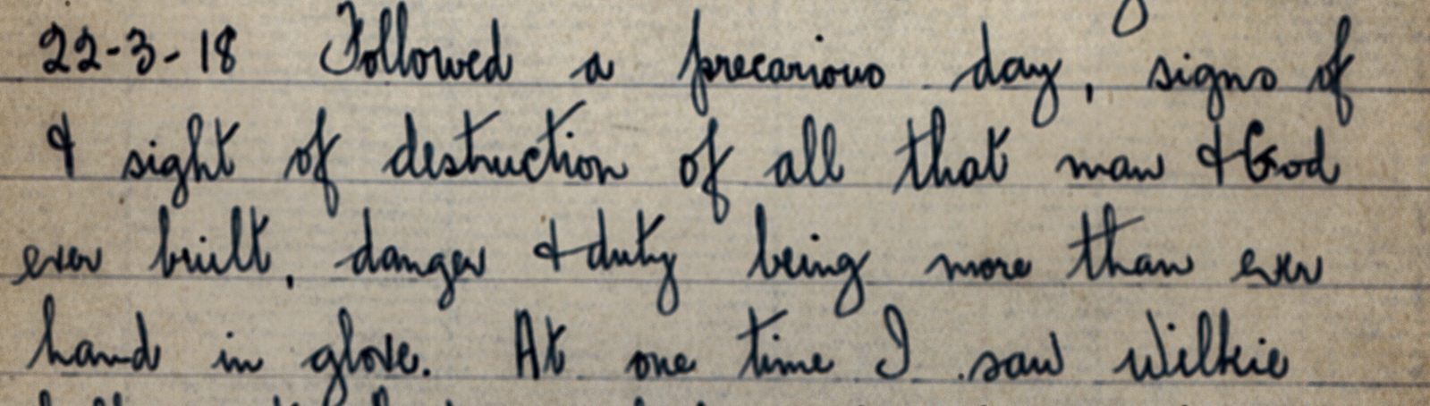 Remembrance: Will Popham's diary