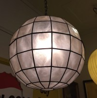 Capiz Ball Swag Lamp ***SOLD - Past Perfect