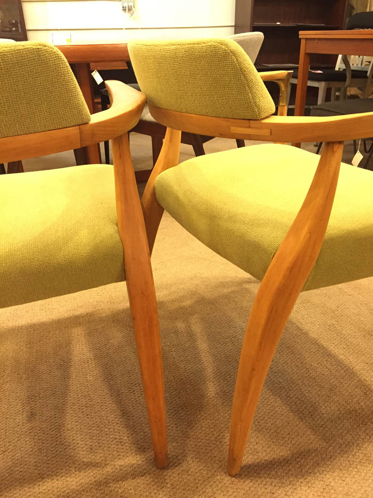Pair circa 1950s Sensual Shape Side Chairs SOLD  Past