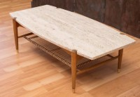 Dux Travertine Coffee Table Attributed to Bruno Mathsson ...