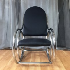 How To Make A Rocking Chair Not Rock Santa Hat Covers Amazon Curvaceous Upholstered Chrome In The Style