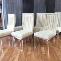 Acrylic Chair Legs Knoll Regeneration Four Piece Set Of Charles Hollis Jones Lucite Leg Dining