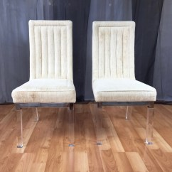 Acrylic Chair Legs Replacement Cushions For Wicker Chairs Four Piece Set Of Charles Hollis Jones Lucite Leg Dining