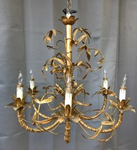 Italian Chinoiserie Faux Bamboo Gilt Chandelier ***SOLD ...