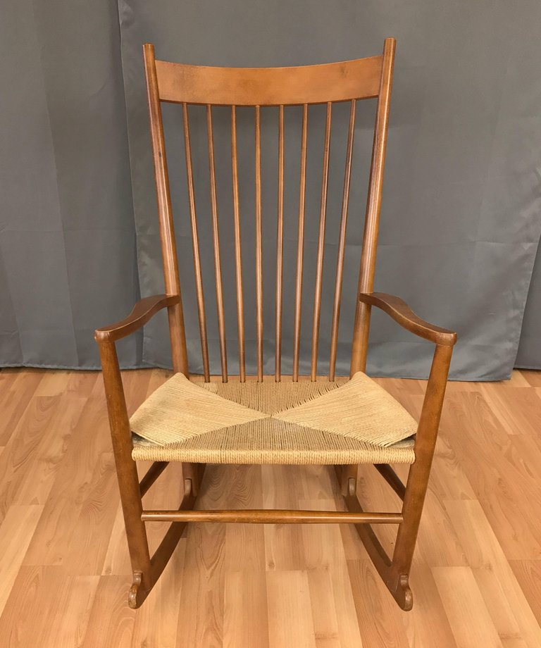 hans wegner rocking chair chairs for posture vintage j16 beech sold past perfect 2