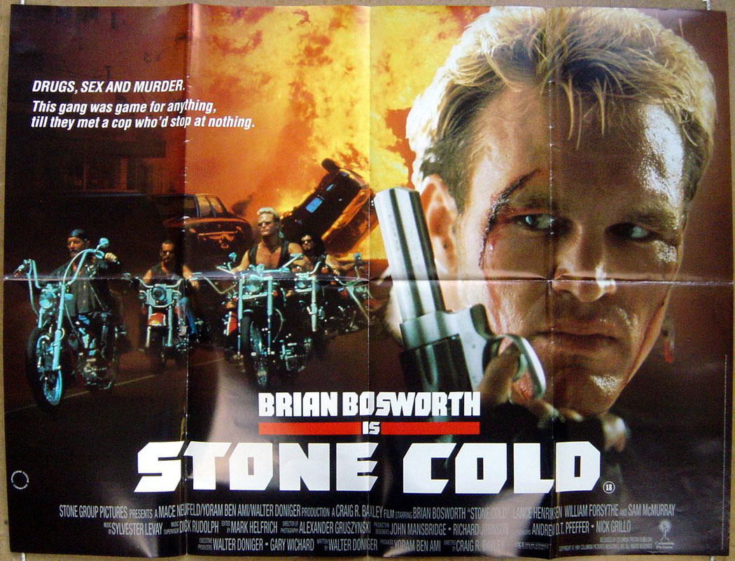 Stone Cold  Original Cinema Movie Poster From pastposters