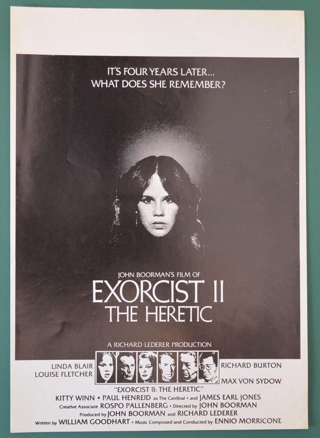 Exorcist II  The Heretic Original 8 Page Cinema