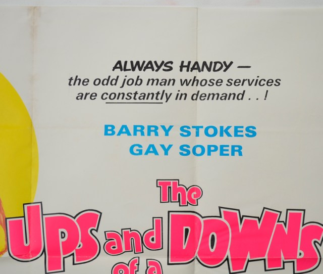 The Ups And Downs Of A Handyman Top Right Cinema Quad Movie Poster