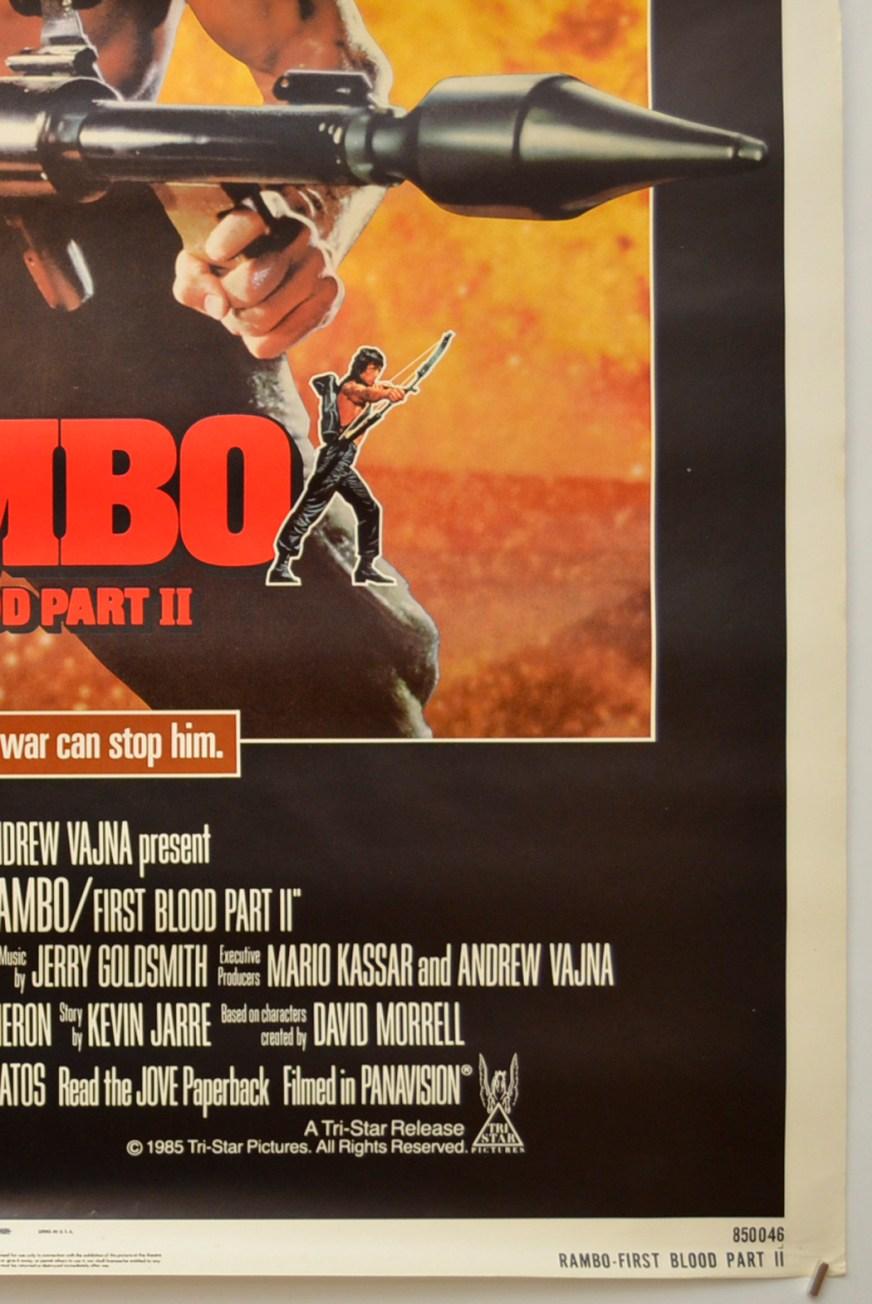 Rambo : First Blood Part II - Original Cinema Movie Poster ...