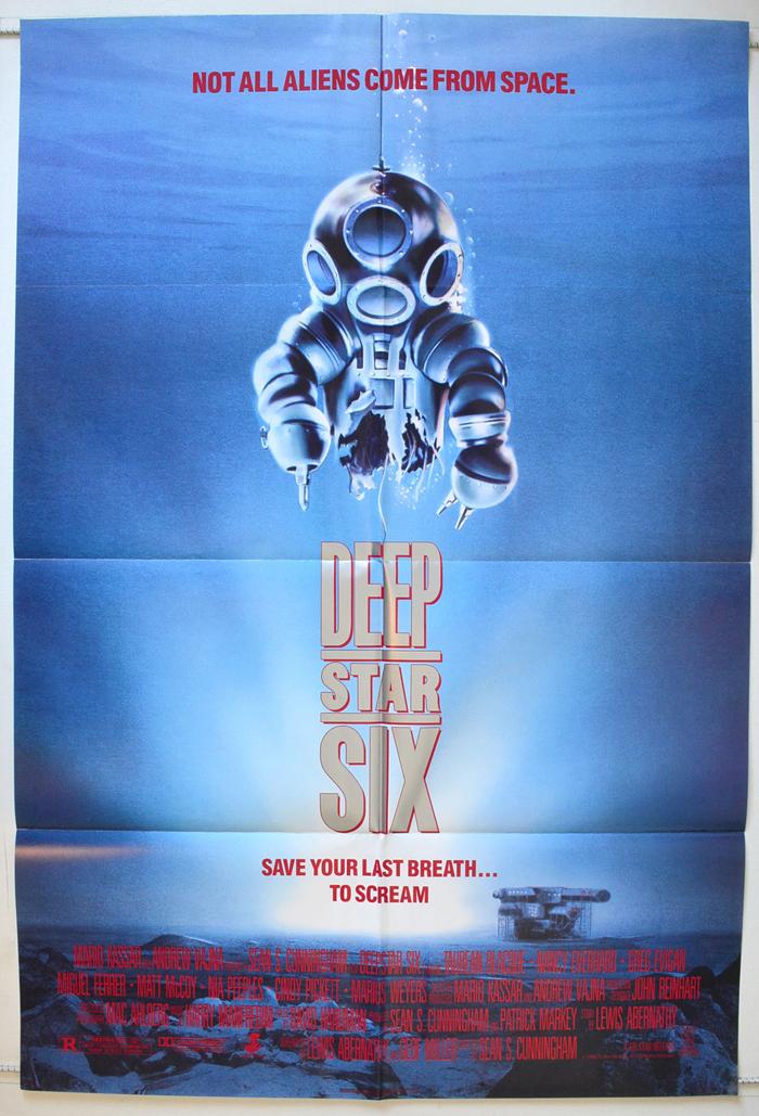 Deep Star Six Original Cinema Movie Poster From