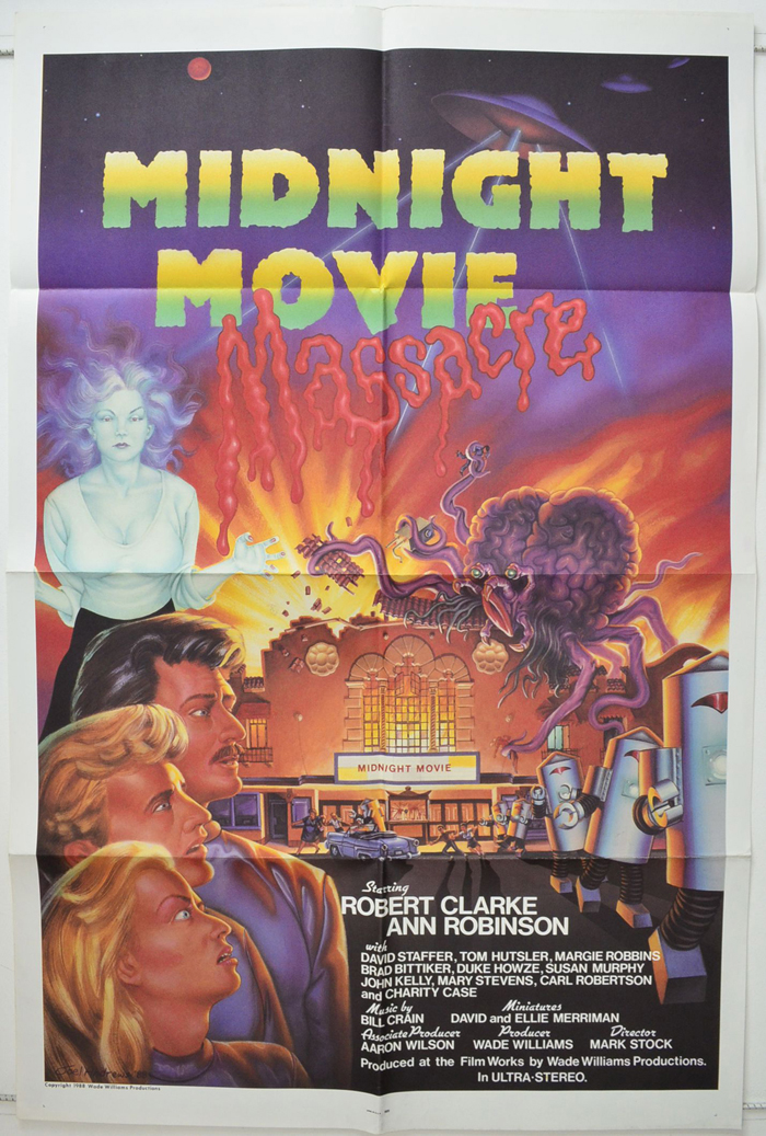 Midnight Movie Massacre - Original Cinema Movie Poster From pastposters.com British Quad Posters and US 1-Sheet Posters
