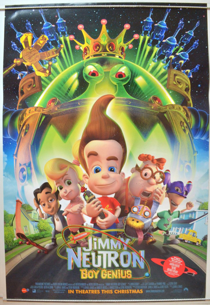 Jimmy Neutron Boy Genius Original Cinema Movie Poster